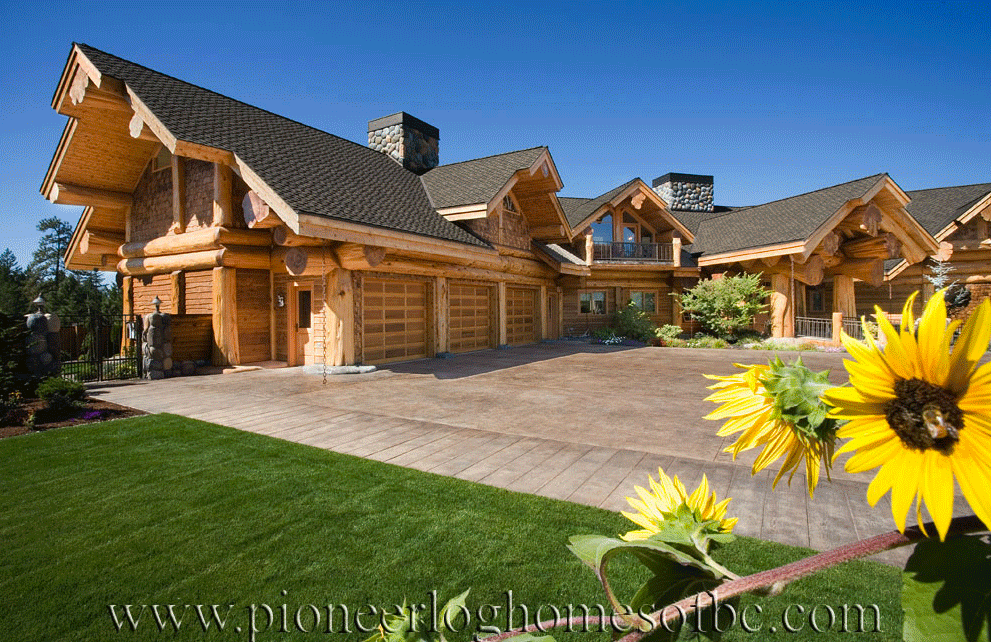 Gallery log post beam pioneer log homes midwest for Midwest home builders