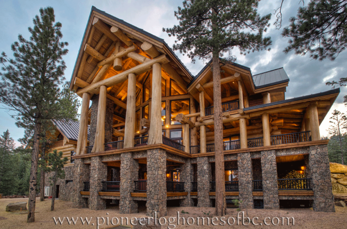 Gallery log homes pioneer log homes midwest for Midwest home builders
