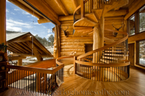 Pioneer-Log-Homes-Midwest-entrances-and-stairs-13