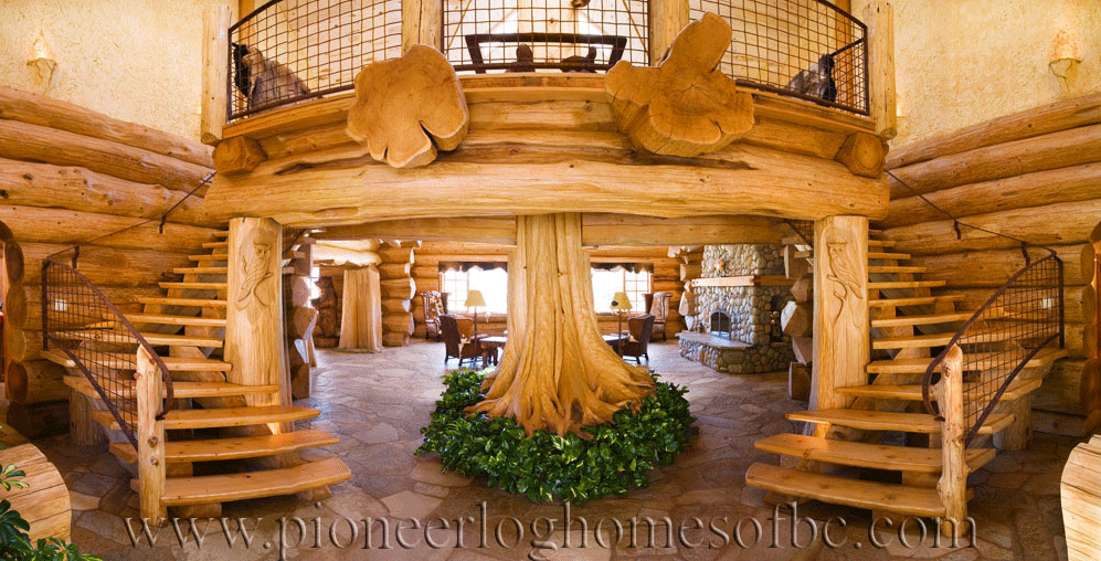 Pioneer-Log-Homes-Midwest-entrances-and-stairs-4