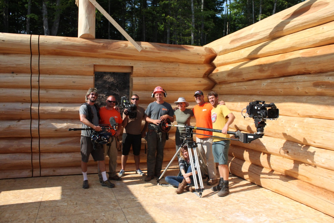 Pioneer log home construction