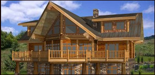 Pioneer Log Homes Midwest - Alamo post and beam