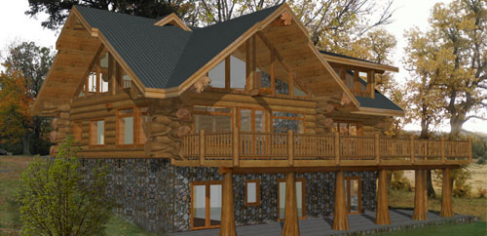 Floor plans 3000 4500 sq ft pioneer log homes midwest for 3000 sq ft house cost
