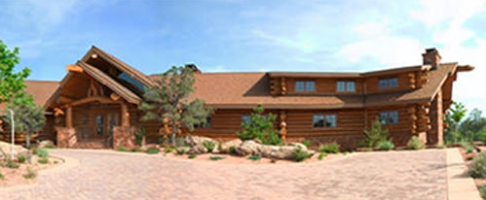 Pioneer log homes midwest- Brice Canyon