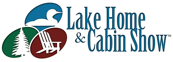 Lake home and cabin show logo